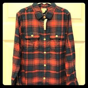 J.CREW Crewcuts Boys Lightweight Flannel Shirt